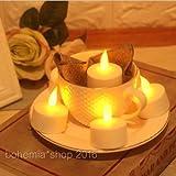 EMOTREE 18x LED Kerze Teelichter Elektrisch Fernbedienung Warmweiß Flackernd Flammenlos Licht