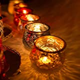 6er Set Windlicht Teelichtglas Ø 10 x 11 cm Windlichthalter Kerzenglas Windlichtset Glasvase Windlichtglas Laterne Glas Kerze - 3