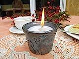 Kerzenfresser Indoor, Kerzenrestefresser für Innenbereich, Schmelzlicht, Tischlicht, Kerzen Recycling, Keramik zum Schmelzen von Kerzen- und Wachsresten, mit nicht brennbarem Dauerdocht