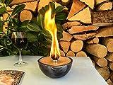 Kerzenfresser Keramik, Kerzenrestefresser, Outdoor, zum Schmelzen von Wachsresten, Tischfackel, Kerzen Recycling, Gartenfackel, metallic, ca. 13,5x6,5 cm, mit windfestem Dauerdocht, reine Handarbeit