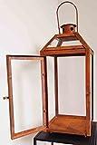 Stabile Metall Laterne für den Außenbereich – Schwarz Pulverbeschichtet - 3