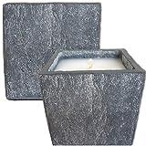 Der Perlenspieler® -Kerzenschmelzer-Fackel-Typ Granit-Used-Optik-12 cm x 12 cm-Für Terrassen UND Innenräume geeignet-mit Anleitung und Filzfüßen, 12 cm x 12 cm