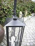 Große Metall Laterne XXL – Pulverbeschichtet in Schwarz & Weiß - 4