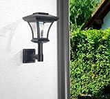 Solar-LED Wandlaterne von Lunartec mit 8 Stunden Leuchtdauer - 2