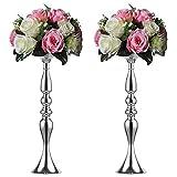 2 50 cm Höhe Metall Kerzenhalter Kerze ständer Hochzeit Mittelpunkt Event Road führen Flower Rack (Silber)