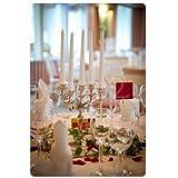 Boltze Kerzenleuchter Varas Silber 35cm Kerzenhalter Kerzenständer silberner Kandelaber - 2