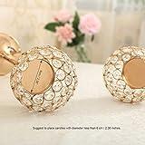 VINCIGANT Gold Kristall Kerzenhalter Set 2 für Hochzeit Tisch Mittelstücke Home Dekor,20cm&25cm Höhe - 4
