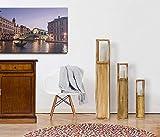 Rebecca Mobili 3er Set Windlichtsäulen Dekolaterne Kerzenhalter Holz Plexiglas Braun Shabby Vintage Haus Terrasse – 119 x 20 x 20 cm (H x B x T) – Art. RE4666 - 2