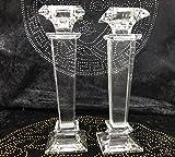 2 Stück im Set Medusa Kristall Kerzenständer Sehr Edel DEKO Kristall Kerzen Ständer !!! TOP ANGEBOT !!! ( SO LANDER DER VORRAT REICHT ) (SILBER)