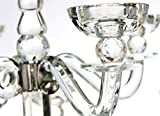 VOGUISH Kerzenständer Kerzenhalter Kerzenleuchter Groß 9-Armiger Kristall Glas Höhe: 80 cm - 3