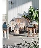 Dehner Holz-Laterne AVA, ca. 24 x 24 x 61.5 cm, Holz/Glas/Metall, weiß/grau - 3