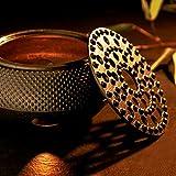 Lumaland Stövchen aus Gusseisen Teewärmer Wärmer Untersetzer für Teekannen nach asiatischer Tradition in Schwarz
