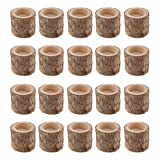 FLAMEER 20 Stück Naturholz Baumstumpf Teelichthalter Kerzenhalter, Höhe 5cm - 3