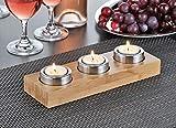 Teelicht-Halter JOLLY für 3 Teelichter  Material: Bambus und Edelstahl Maße: 25 x 8 x 5 cm. Im Geschenkkarton - 2