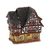 Keramik- Lichthaus - Fachwerkhaus - HandArt - Detailgetreu nachgebildet und Handbemalt - Maße: ca. Breite 8,5 cm x Länge 12 cm x Höhe 12,5 cm