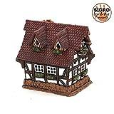 Vogtland Souvenir Keramik Teelichthaus Lichterhaus Teelichthalter Modell Fachwerkhaus 12 cm