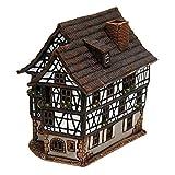 Deko-Geschenke-Shop Keramik Teelichthaus Lichterhaus Fachwerkhaus Bauernhaus Bauerngut 15 cm