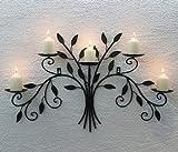 DanDiBo Wandkerzenhalter 12119 Kerzenhalter aus Metall Schmiedeeisen 70 cm Kerzenleuchter