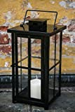 Schwere Metall Laterne – Schwarz Pulverbeschichtet – stablie Qualität - 2