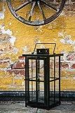 Schwere Metall Laterne – Schwarz Pulverbeschichtet – stablie Qualität - 3