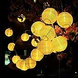Solar LED Laternenkette für die Terrasse oder Garten - Länger 4.8 Meter & 30 LEDs