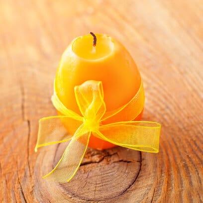 Kerze in Form eines Ostereies