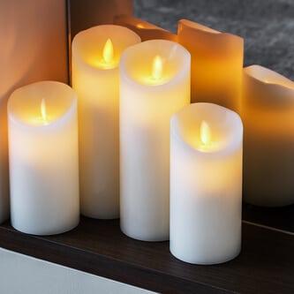 Elektrische LED-Kerzen mit Batterien