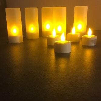Elektrische LED Teelichter mit Timer und Fernbedienung