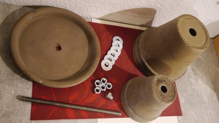 materialliste um einen teelichtofen zu bauen