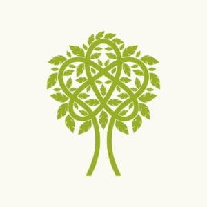 Kirchliches Tauf-Symbol - Baum des Lebens