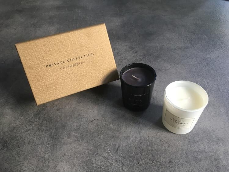 Duftende Premiumkerzen aus dem Hause Rituals - grüner Kardamom und Weihrauch