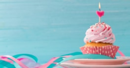 Eigen kreierte Geburtstagskerze