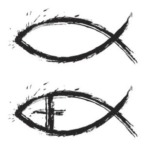 Kirchliches Tauf-Symbol - Der Fisch