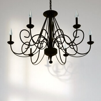 Eisen Kerzen-Ständer Großer Landhaus Leuchter Antik Braun Kerzenleuchter