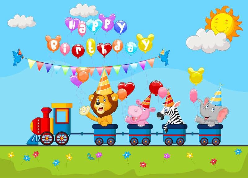 Geburtstagskarawane mit Tieren aus dem Zirkus