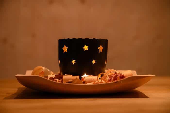 Dekoratives Windlicht für kleine Kerzen