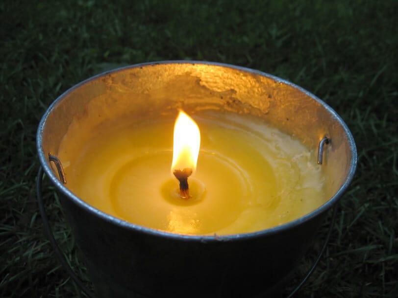 Kerzeneimer-Zitrone(Mückenschutz) für den Garten