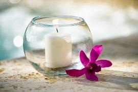 Kerzenglaskugel