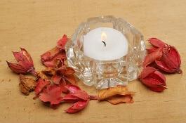Kristallglas für kleine candles