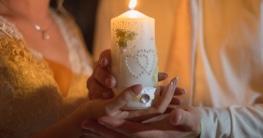 Mini Kerze als Geschenk für die Hochzeitsgäste
